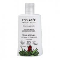 Тоник для лица Очищение & Увлажнение Organic Aloe vera, 250 мл