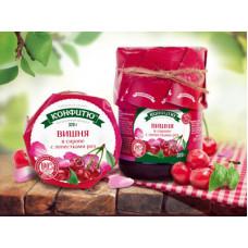 Варенье вишня в розовом сиропе, 320 гр
