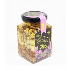 Акациевый мёд с ассорти орехов, 250 мл