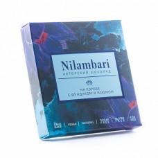Шоколад Nilambari на кэробе с фундуком и изюмом, 65 гр