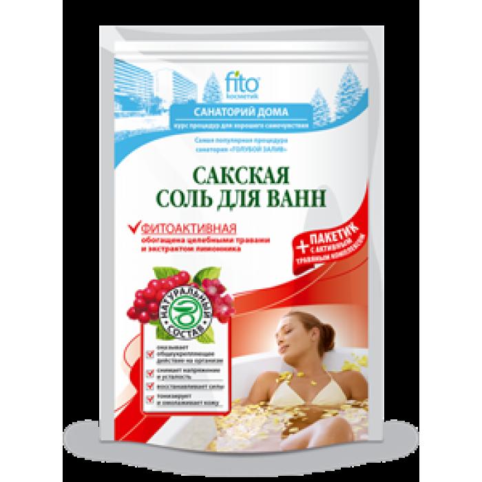 Соль для ванны САКСКАЯ, фитоактивная, 500 гр