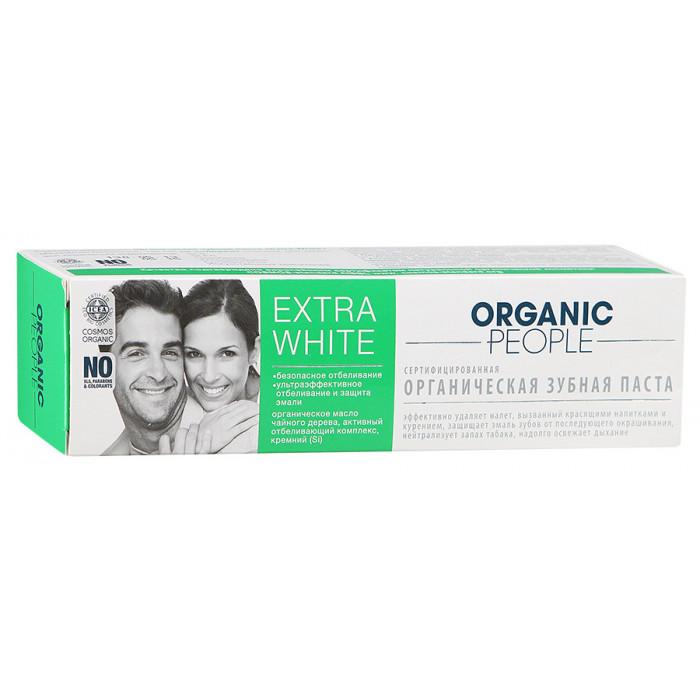 Зубная паста Organic People Extra White, 100 гр