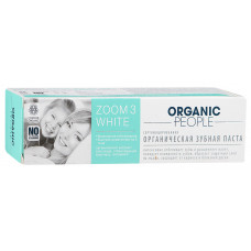Зубная паста Organic People Zoom 3 White, 100 гр