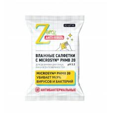 ZERO Anti-Virus Антибактериальные влажные салфетки для лица и рук Чайное дерево 20 шт