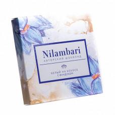 Шоколад Nilambari белый на кокосе с фундуком, 65 гр