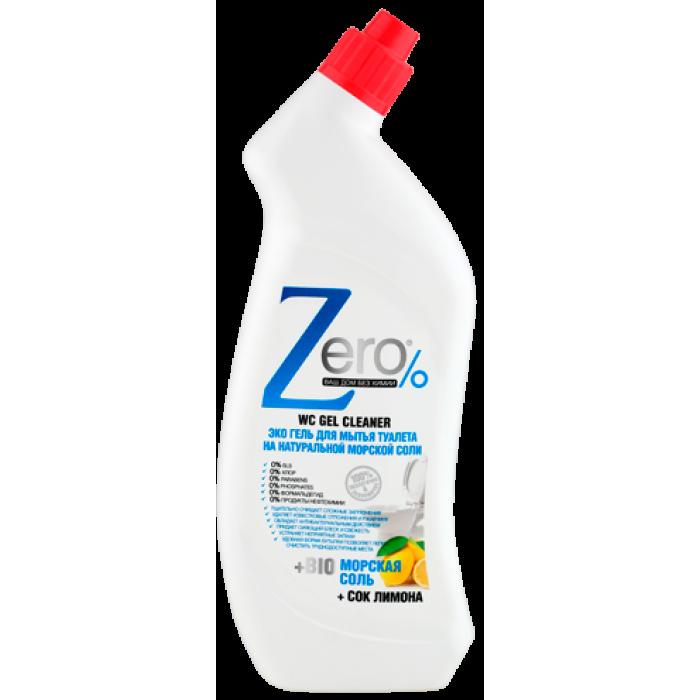 ZERO Гель для мытья туалета на натур.100% морской соли+сок лимона, 750 мл