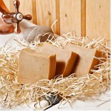 Натуральное мыло Деревенька (козье молоко, прополис, мед, пыльца), 120 гр