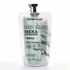 """Маска для волос """"Глубокое очищение"""" 3 глины, 100 мл"""