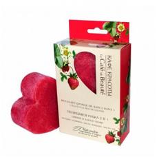 Пенящаяся губка 2 в 1 Сияние и бархат кожи (сердце), 120 гр