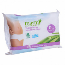 Органические влажные салфетки для интимной гигиены, 20 шт