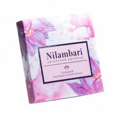 Шоколад Nilambari горький малина-спирулина, 65 гр