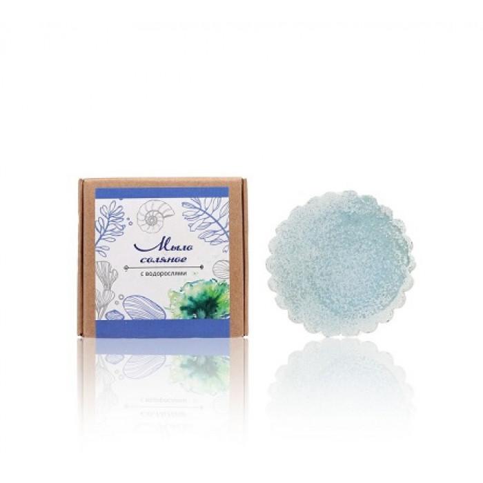 Соляное мыло с водорослями Живица, 80 гр