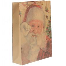"""Крафт пакет """"Санта Клаус"""""""