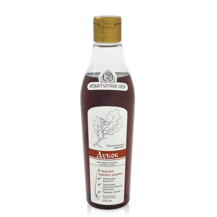 Безсульфатный растительный шампунь «Дубок» для жирных волос и кожи головы, 250 мл