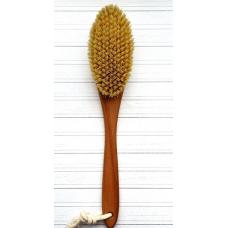 Щетка дренажная для сухого массажа из бука и кактуса