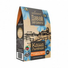 """Льняная каша """"Шоколадная с изюмом и семенами чиа"""" Polezzno, 300 гр"""