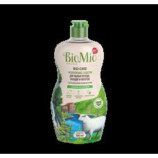 Экологичное средство BioMio для мытья посуды (в т.ч. детской), овощей и фруктов с эфирным маслом мяты, 450 мл