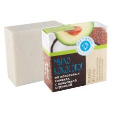 """Натуральное мыло на кокосовых сливках """"Нежный пилинг"""" с кокосовой стружкой, 100 гр"""