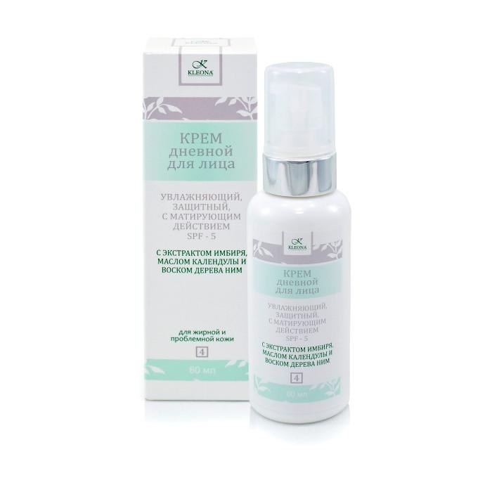 Дневной увлажняющий крем для жирной и проблемной кожи с матирующим эффектом и SPF 5, 60 мл