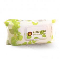 Влажные фито-салфетки LOVULAR для груди, сосок, пустышек 80 шт